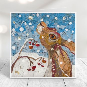 Touched by Winter - Hare Card