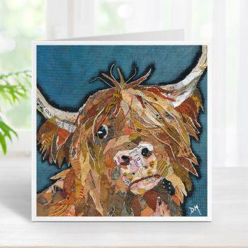 Angus - Highland Cow Card
