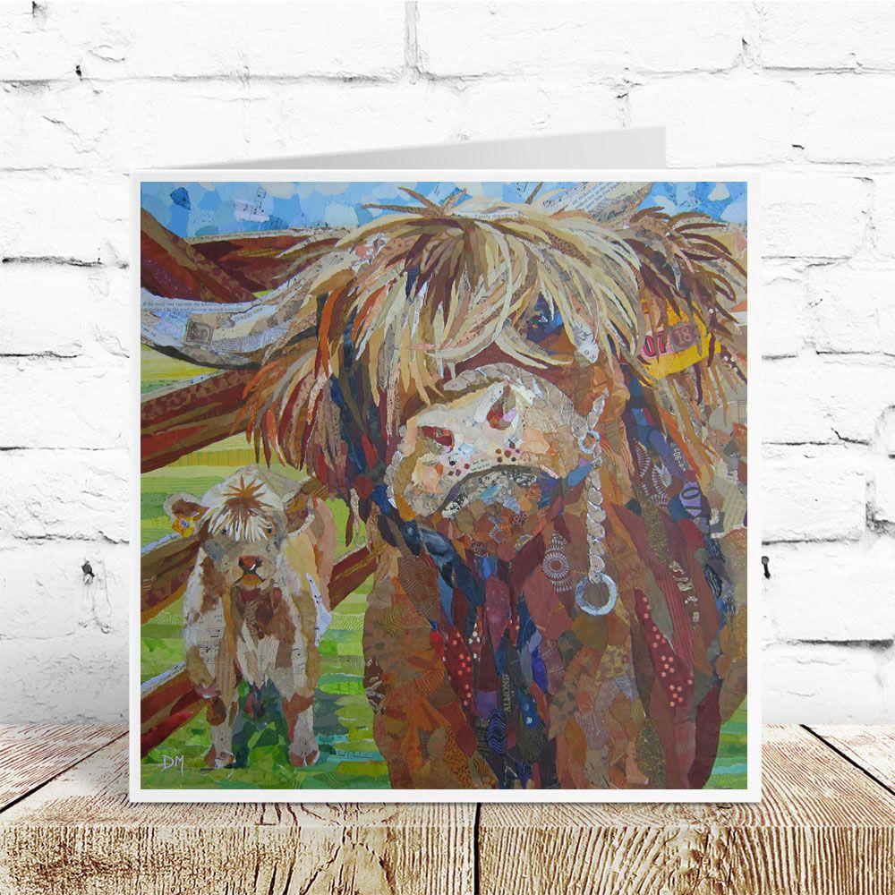 Morag & Wee Mac- Highland Cow Card