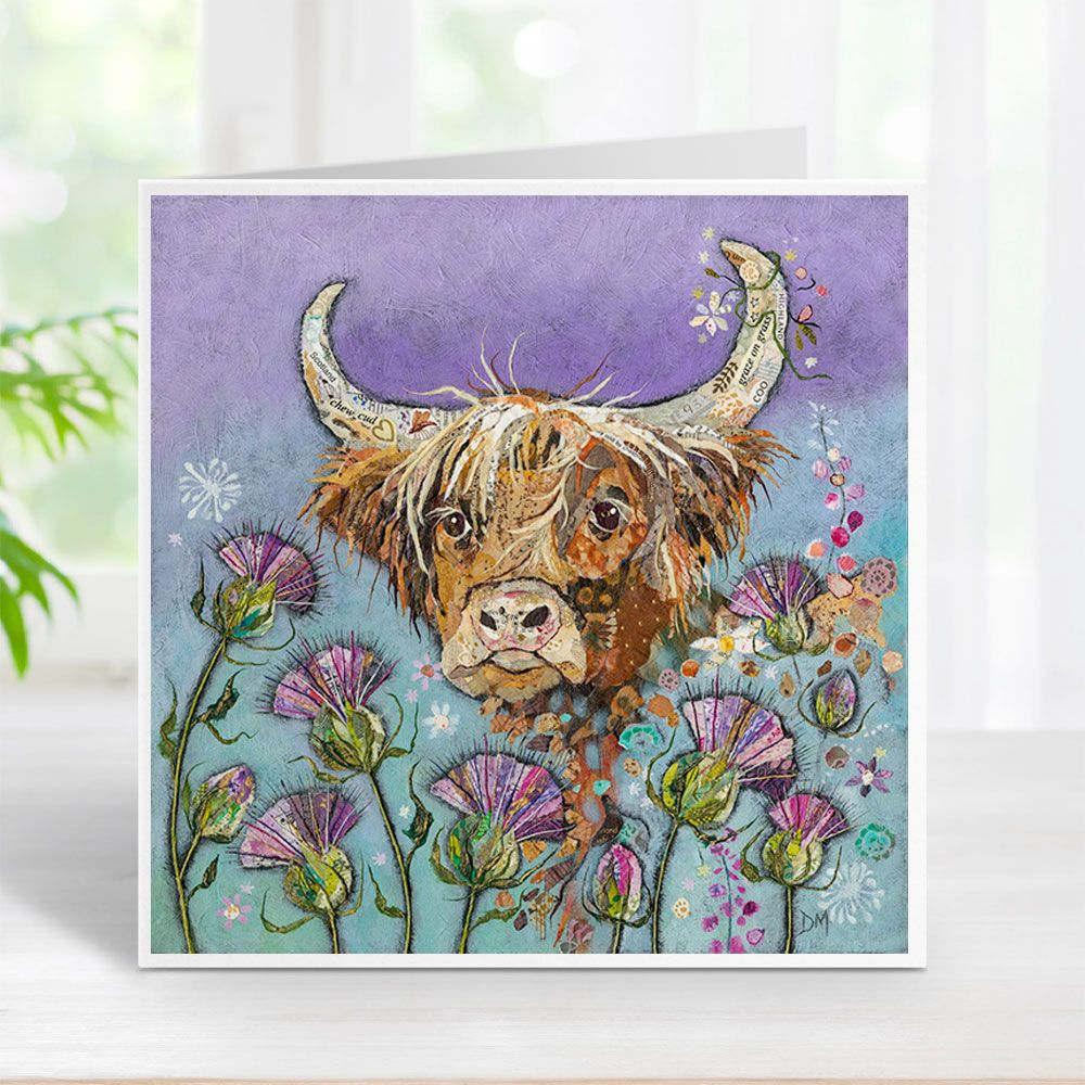 Thistle Coo - Highland Cow Card