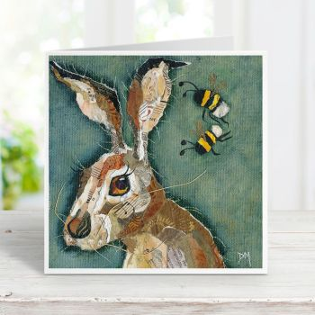 Buzz Off - Hare & Bees Card