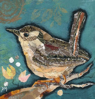 Wren on Teal II - Small Print