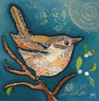 Wren on Verdigris - Small/Med Print