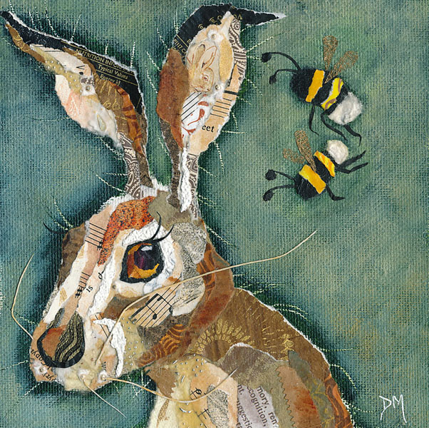 Hare and Bee Art Print