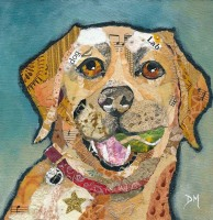 Barney - Labrador Art Print