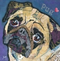 <!-- 063 -->Pug Love - Small/Med Print