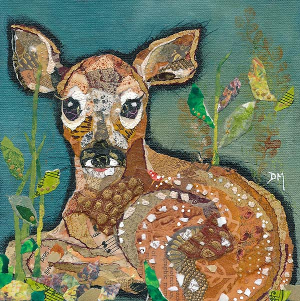 Baby Deer Fawn Small Art Print