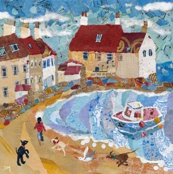 Pittenweem Dog Walker - Medium Print
