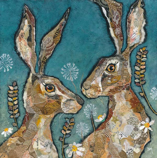 Two Hare Friends Fine Art Print