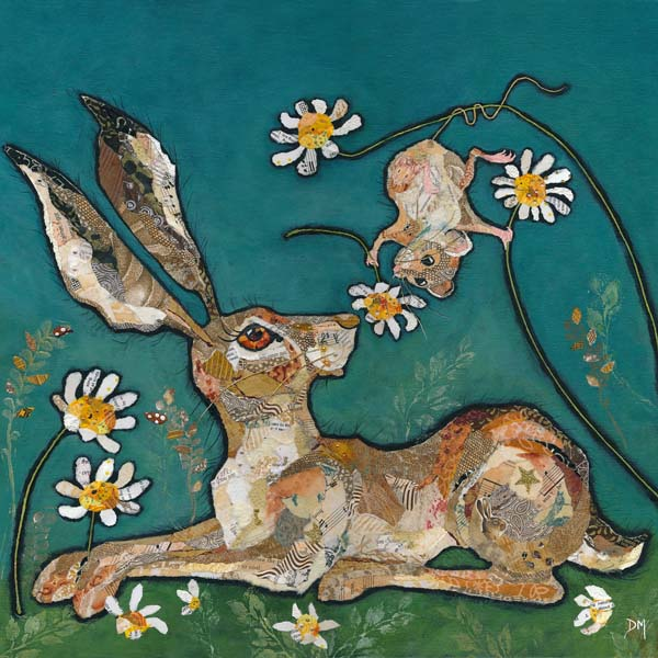 Hare and Mouse Art Print