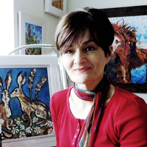 Dawn Maciocia in her art studio