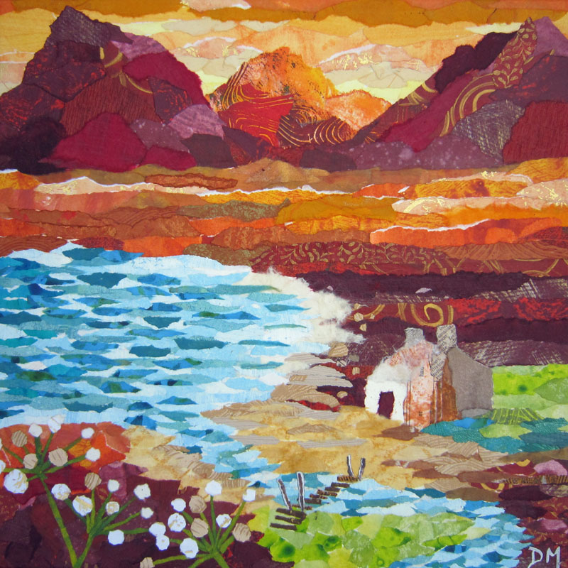Scottish Hills and Loch Art Greetings Card