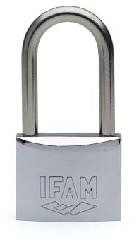 IFAM 50mm LONG SHACKLE KEYED ALIKE MARINE PADLOCK. SALT SPRAY TESTED.