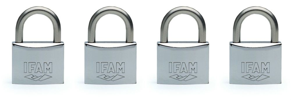 4pcs.IFAM 40mm KEYED ALIKE MARINE PADLOCK. SALT SPRAY TESTED.