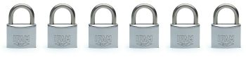 6 pcs. IFAM 30mm  KEYED ALIKE MARINE PADLOCKS. SALT SPRAY TESTED.