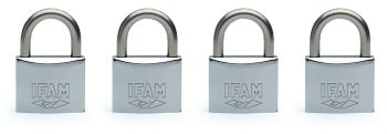 4pcs.IFAM 30mm KEYED ALIKE MARINE PADLOCK. SALT SPRAY TESTED.