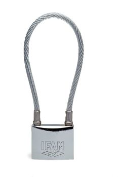 IFAM MARINE CABLE PADLOCK. BLISTER PACKED.