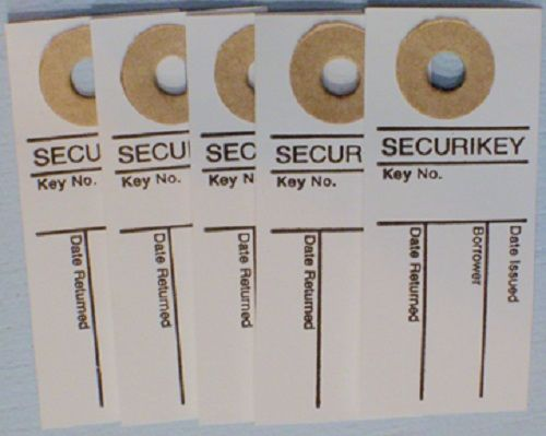 SECURIKEY KEY SIGN OUT TABS. PK OF 250. Ref. AKSOTO250.