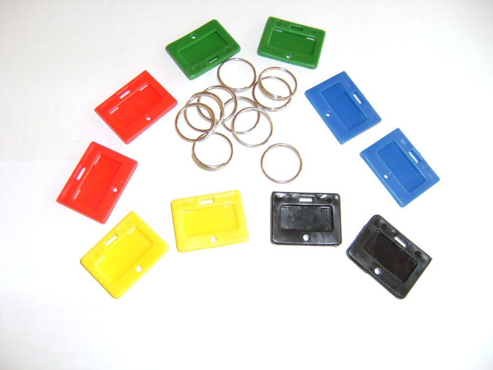 SECURIKEY KEY TAGS & RINGS. Pack of 10. AKKTR10.