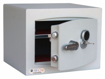 MINI-VAULT GOLD FIRE RESISTANT CASH SAFE - KEY LOCK. MODEL 1