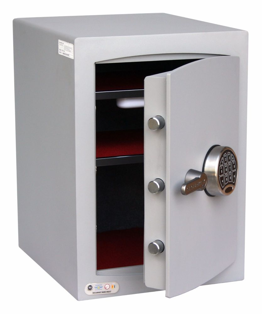 <!---008--->MINI-VAULT CASH SAFE ELECTRONIC LOCK - MODEL 2-EDL