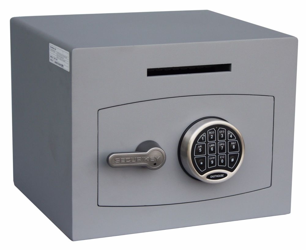 MINI-VAULT SIZE 1 ELECTRONIC LOCK DEPOSIT SAFE.