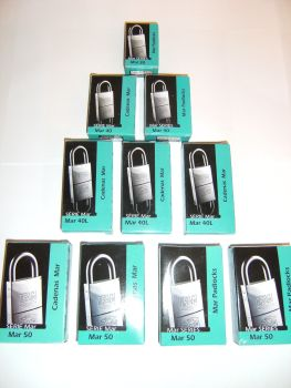 12pcs IFAM 50mm KEYED ALIKE MARINE PADLOCKS - SALT SPRAY TESTED.