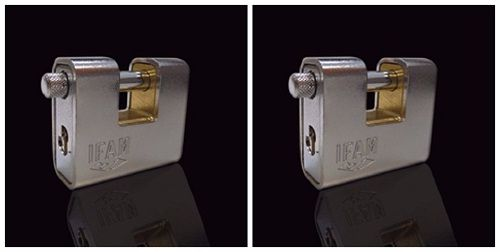 <!--006--> IFAM ARMOURED 90 CEN 4 INSURANCE RATED PADLOCK. KEYED ALIKE MODE
