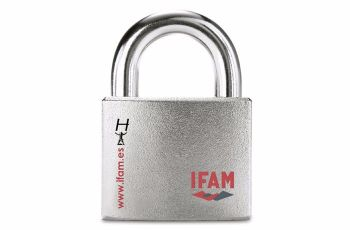 IFAM HERCULES B CEN 4 RATED HIGH SECURITY PADLOCK. OPEN SHACKLE MODEL.