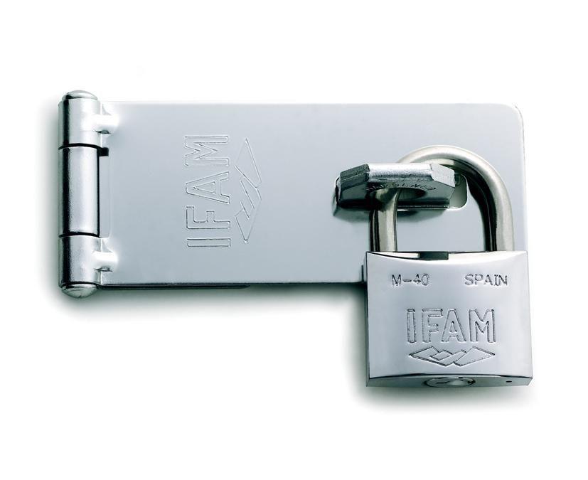 IFAM LARGE HASP + 40mm MARINE PADLOCK