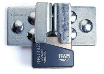 IFAM DOOR SECURITY KIT. HIGH SECURITY HASP PLUS HERCULES CEN 4 RATED PADLOCK.
