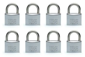 8pcs IFAM MAR30 KEYED ALIKE PADLOCK. SALT SPRAY TESTED.