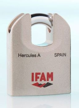 IFAM HERCULES A CEN 4 RATED PROTECTED SHACKLE PADLOCK.