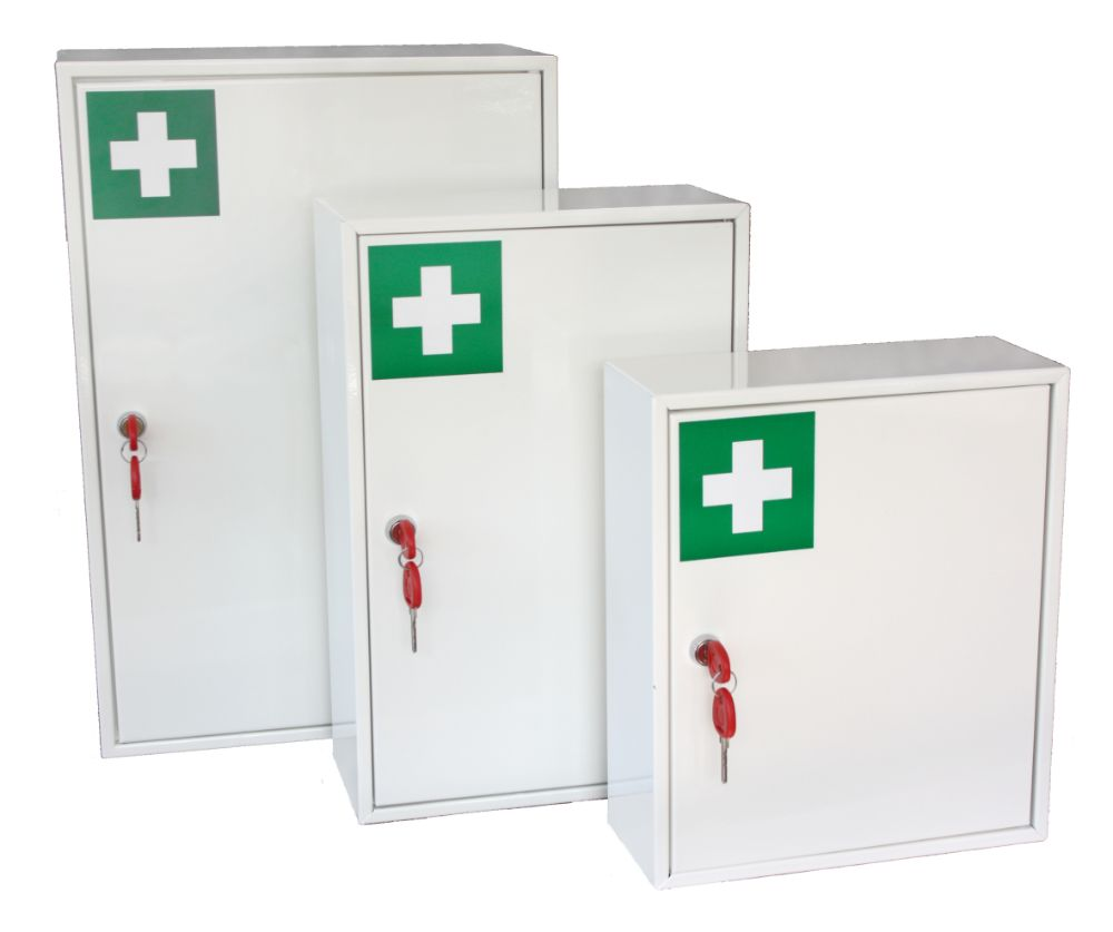 LOCKABLE FIRST AID/PPE CABINETS