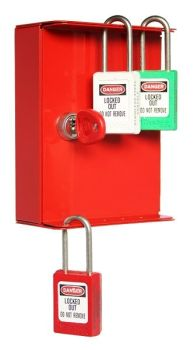 SECURIKEY EK1LO5 LOCKOUT CABINET. ONE KEY HOOK. 10 LOCKOUT POINTS.