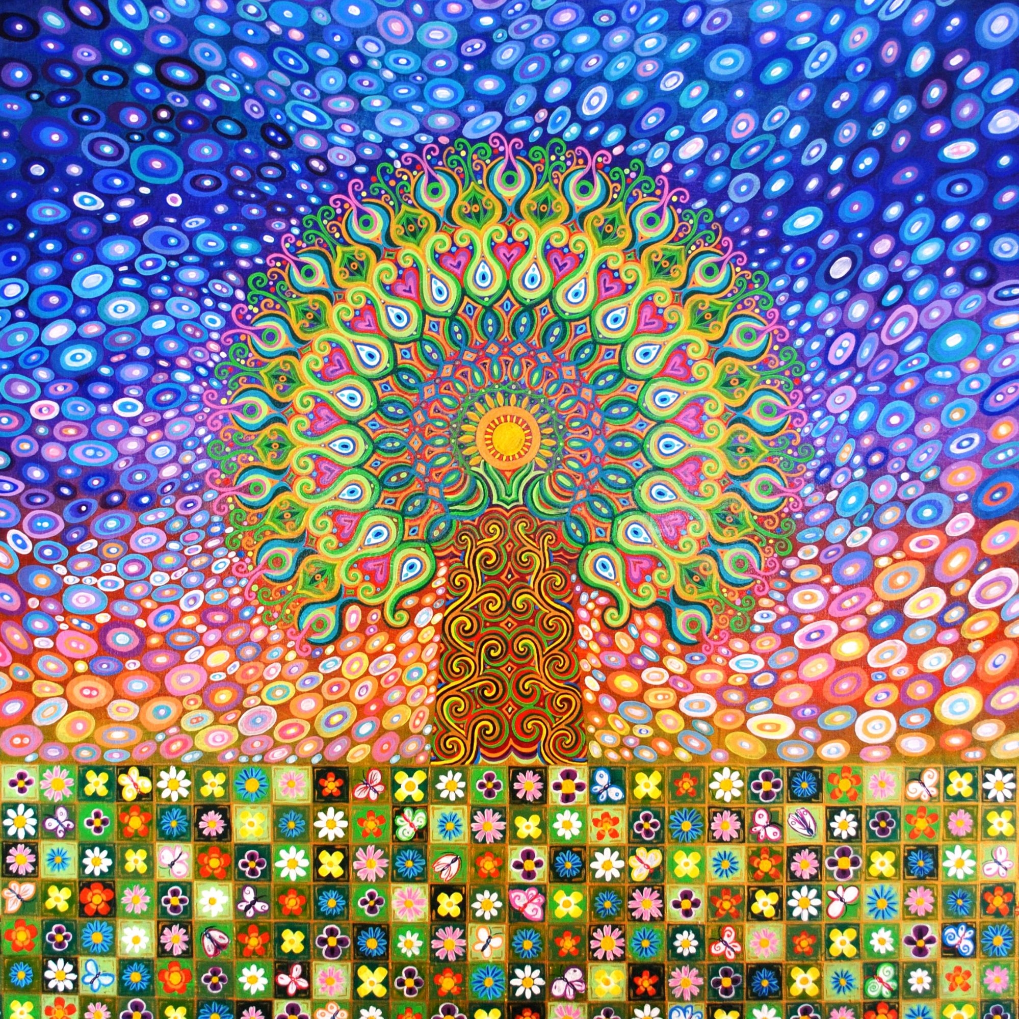 Mandala Tree painting by Mark Betson Artist