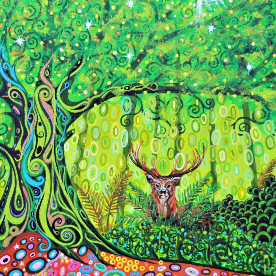 Tree of Life and Stag by Mark Betson Artist