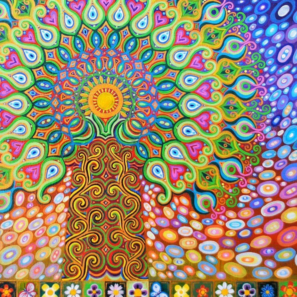 Mandala Tree painting by Mark Betson Artist