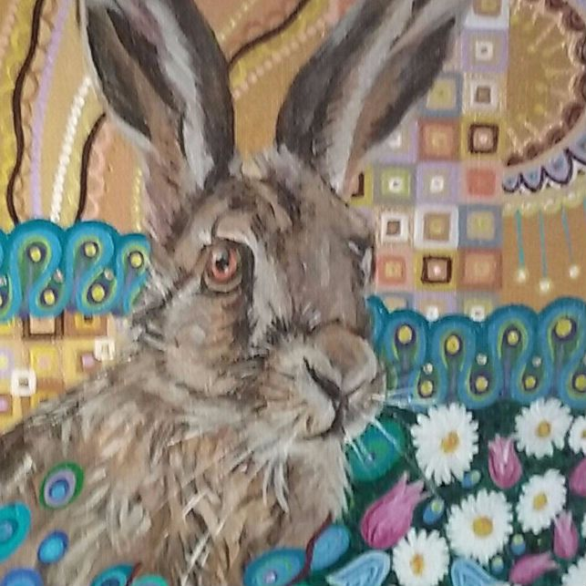 Hare and Harebells by Mark Betson Artist