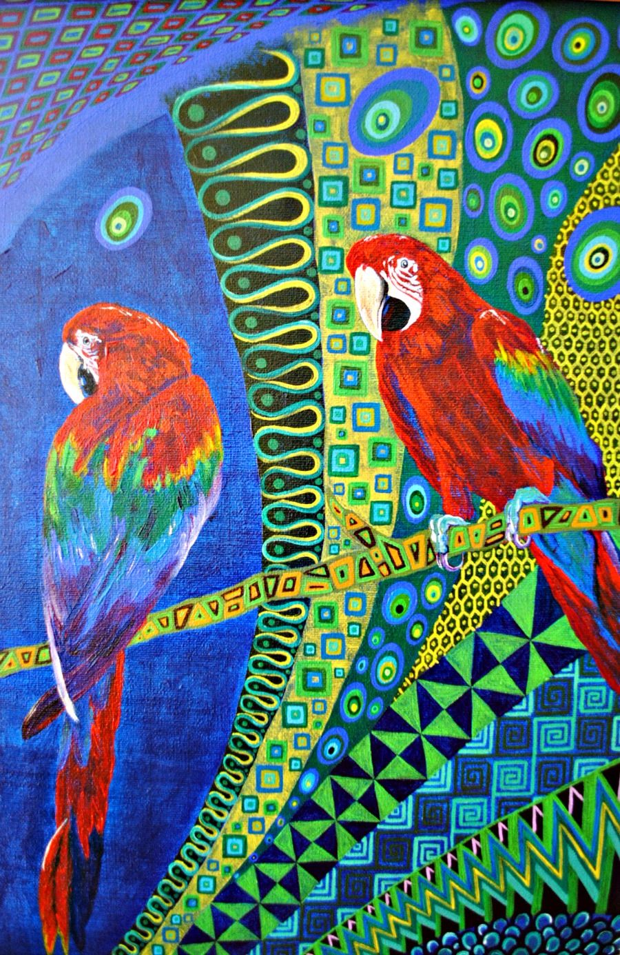 Scarlet Macaws by Mark Betson Artist