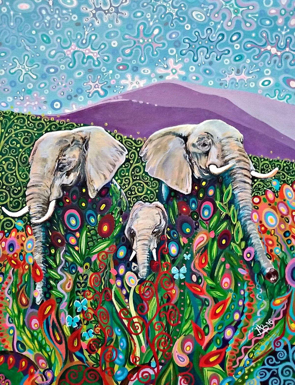Elephants by Mark Betson Artist