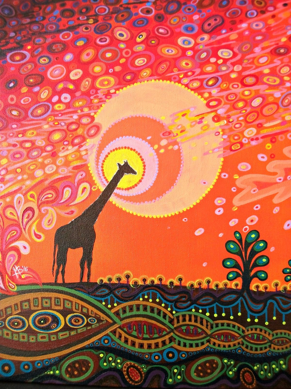 Giraffe painting by Mark Betson Artist