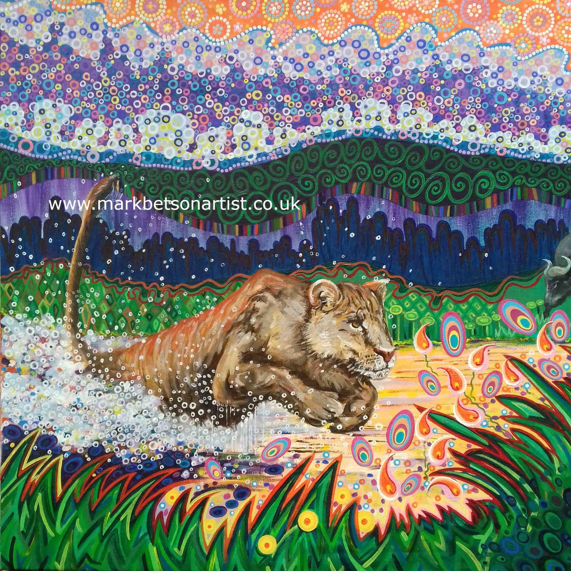 Lioness bby Mark Betson Artist