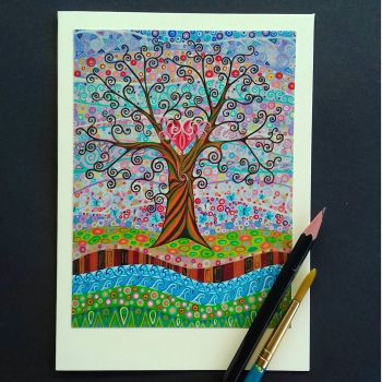Tree of Life Valentines greetings card