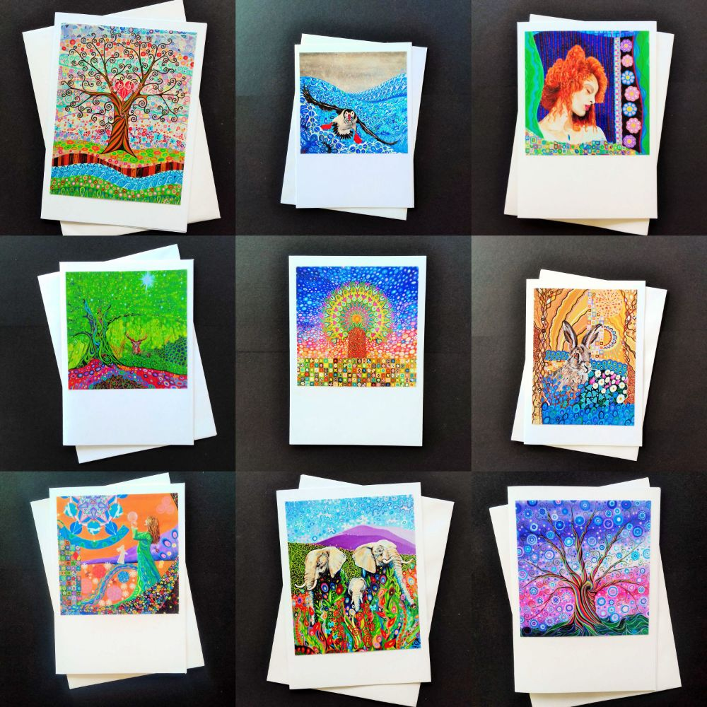 2 Art Greeting cards