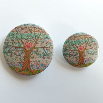 Heart & Tree of Life Badges