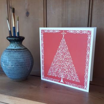 MB026 Christmas - Red Lace Tree