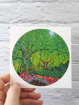 Stag Tree of Life art card