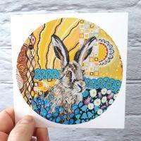 Art Nouveau Hare (125mm)