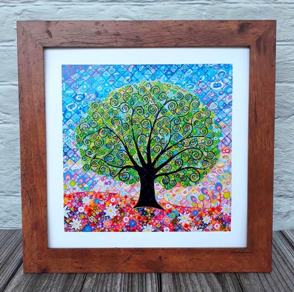 Butterflies Tree of Life - framed